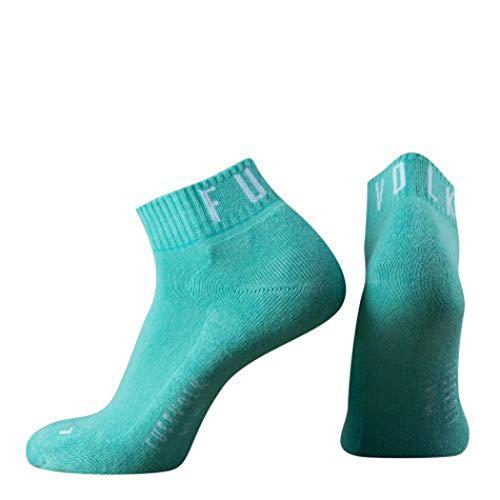 Fussvolk Quarter Socken uni gelb Ankle Socks MADE IN GREEN Sportsocken (mint, 35/38)