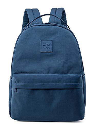 Leaper Cute Water Resistant Girls School Backpack 15.6 Inch Laptop Dark Blue