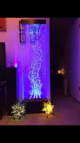 Jersey Home Decor 72'x19' XXL Dancing Bubble Fountain, Floor Standing, Color Lights/Remote Ctrl