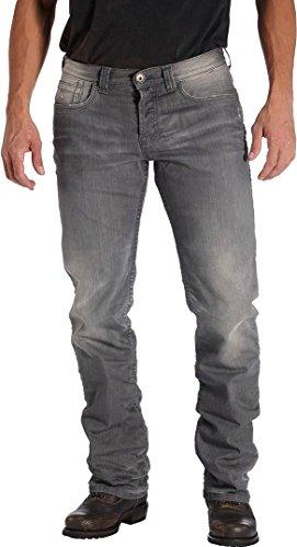 Rokker Rebel Motorrad Jeans 34 Grau L34