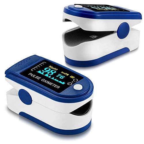 NAUC Finger Puls Oximeter Blutdruckmessgerät SpO2 Pulsmessgerät Blut Sauerstoff OLED