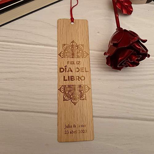 Punto de libro personalizado Mandala Sant Jordi