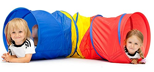 Kiddey 6-feet Kids Play Tunnel Tent, Children Exploration Discovery Crawl Tube for Toddlers -Pops up No Assembly Required- Great Gift Idea for Kids