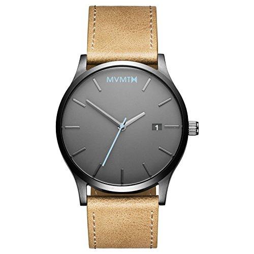 Reloj MVMT, clásico, para hombre, cuero de color arena, MM01GML