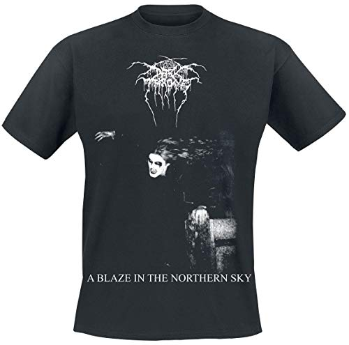 Darkthrone A Blaze In The Northern Sky Männer T-Shirt schwarz M 100% Baumwolle Band-Merch, Bands