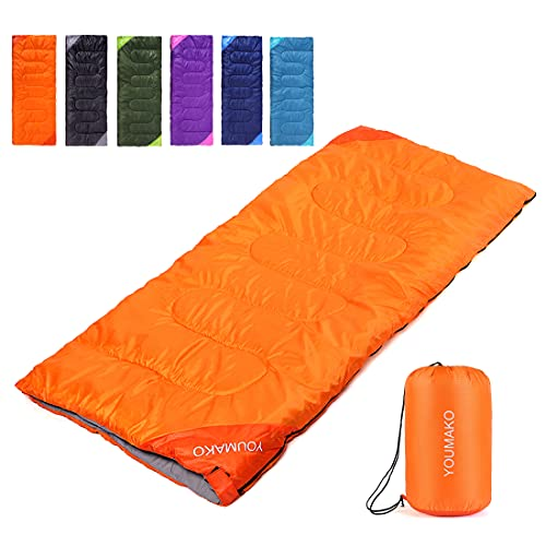 Backpacking Sleeping Bag for Adults & Kids - Lightweight, Waterproof, Comfortable for Spring,...