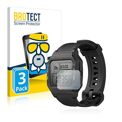 BROTECT Protector Pantalla Cristal Mate Compatible con Huami Amazfit Neo Protector Pantalla Anti-Reflejos Vidrio, AirGlass (3 Unidades)
