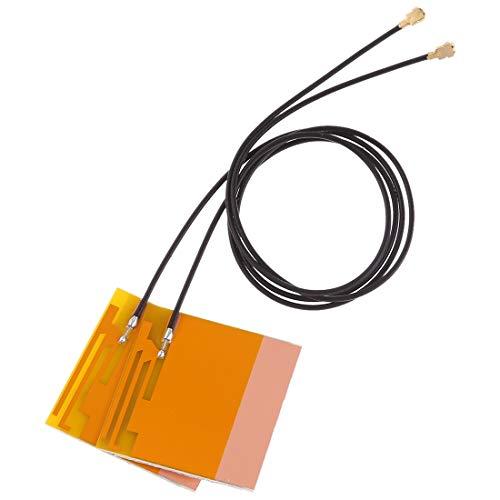 YANTAIANJANE Redes de computadoras 1 par Mini PCI-E WiFi Antena Interna Portátil Universal WiFi Bluetooth Antena de película Amarilla for Tarjeta de Red inalámbrica Tableta
