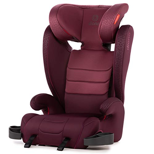 Diono Monterey XT Fix Expandable High back Booster Car Seat with Expandable Height and Width, Group 2/3 (4 to 12 Years Approx, 15-36 kg), Plum
