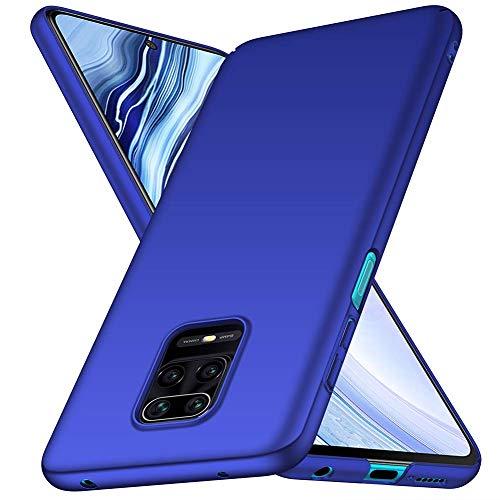 TOPOFU Funda para Xiaomi Redmi Note 9S, Ligera Carcasa PC Hard Caja Caso Skin Case Cover Carcasa Ultra Fina Anti-rasguños Choque Resistente Case para Xiaomi Redmi Note 9S (Azul)