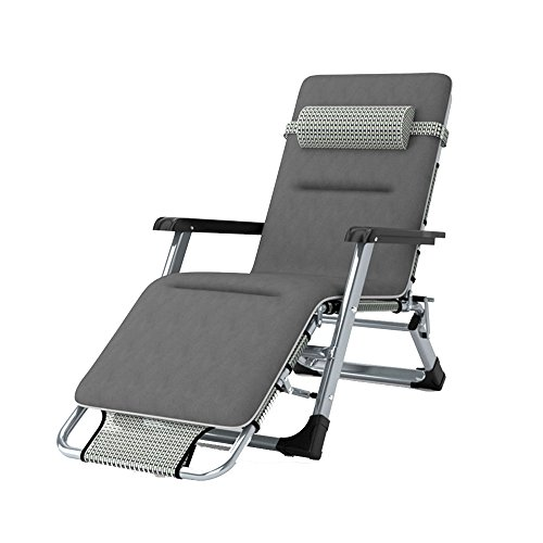 FEIFEI Fauteuils inclinables Pliage des draps avec des coussins Chaises de personnes Pliage déjeuner Pause Bureau renfort respirable Simple Siesta Bed Pliant (Couleur : C)