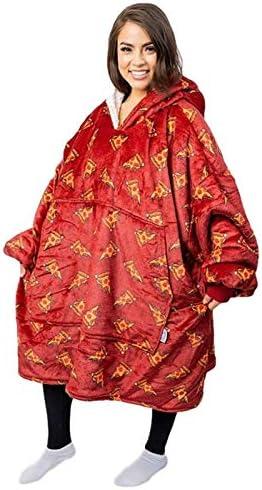 LIJUMN-Home Couverture Sweat-Shirt, Couverture Portable À Capuche Surdimensionnée, Poche Avant Géante Confortable Et Chaude Douce pour Adultes Hommes Femmes Adolescents Amis