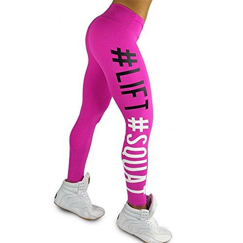 DEELIN Pantalones De Yoga, La Vida De Las Mujeres Squat Carta Moda Entrenamiento Leggings Gimnasio Deportes Gimnasio Running Yoga Pantalones Deportivos
