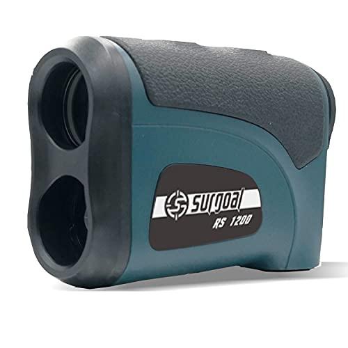 Surgoal HD Gofl/Hunting Rangefinder, Slope Function, Flag-Lock, Pin-Sensor, Waterproof, 6X Magnification Clear View, 1200Yards Easy-to-Use Laser Range Finder