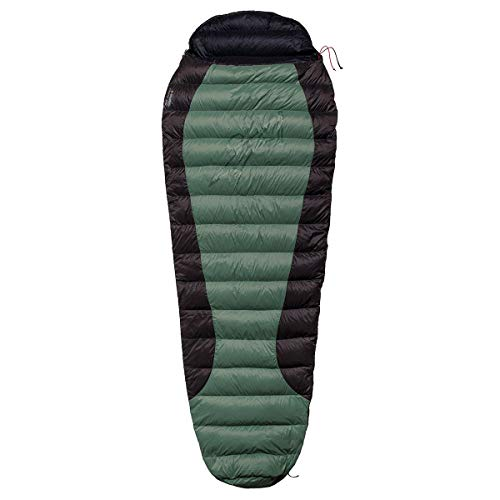 Warmpeace Viking 300 Schlafsack, Green-Grey-Black, L 170cm