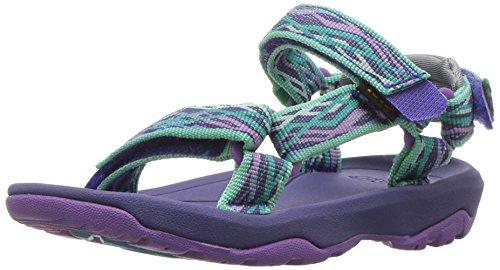 Teva Girls' K Hurricane XLT 2 Sport Sandal, Delmar Sea Glass/Purple, 2 M US Little Kid