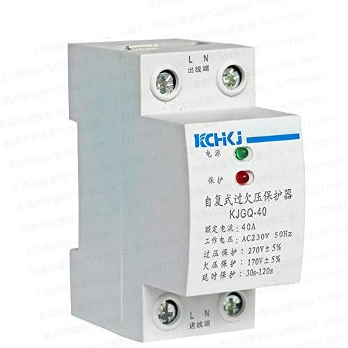 XIONGXI Dispositivo de protección contra sobretensiones de Baja tensión de 220V para Uso doméstico en Miniatura. Interruptor de restablecimiento automático de bajo y Alto Voltaje 40A63A32A50A, 63A