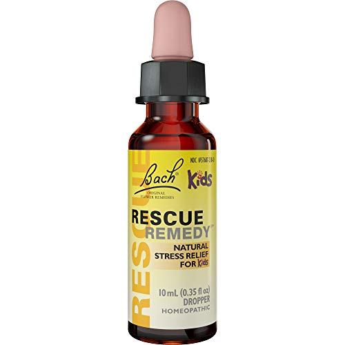 Bach RESCUE REMEDY KIDS Dropper 10mL, Natural Stress Relief, Homeopathic Flower Remedy, Vegan, Gluten and Sugar-Free, Kid-friendly, Non-Alcohol Formula