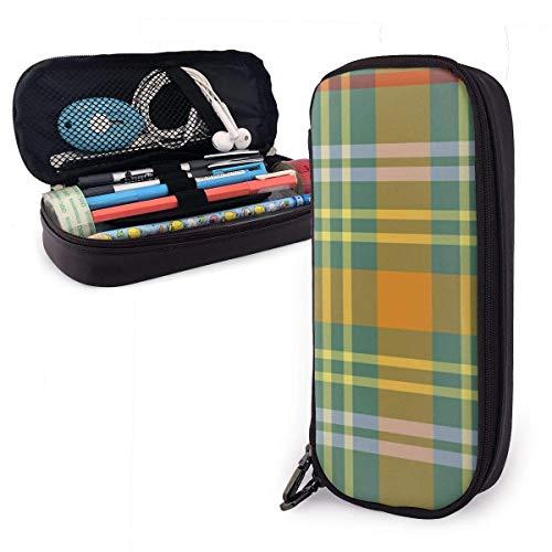 Bunte Plaid O 'Brien Tartan Federmäppchen Tasche große Kapazität Stift Tasche Make-up Tasche dauerhafte Studenten Schreibwaren Taschen mit doppeltem Reißverschluss