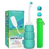 TONELIFE Peri Botella para el cuidado relajante posparto y recuperación perineal, después del nacimiento, tratamiento de hemorroides, bidé portátil de 350 ml/12 oz Portable Bidet-Peri Bottle