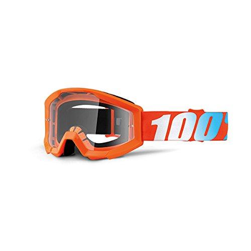 100% Strata Youth Masque de VTT Mixte Enfant, Orange