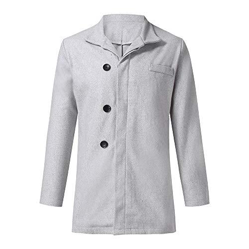 su/éter Informal de Invierno ManS Overcoat Jacket Chaqueta de Invierno c/árdigan de Manga Larga con bot/ón de Cierre para Hombre C/árdigan de Hombre Elegante Jersey de Lana Pura para Hombre