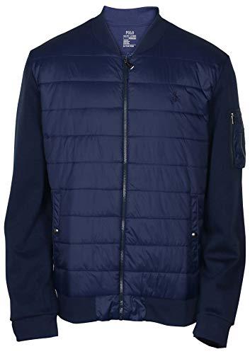 Polo Ralph Lauren Men's Packable Insulated Baseball Jacket, Navy, Medium