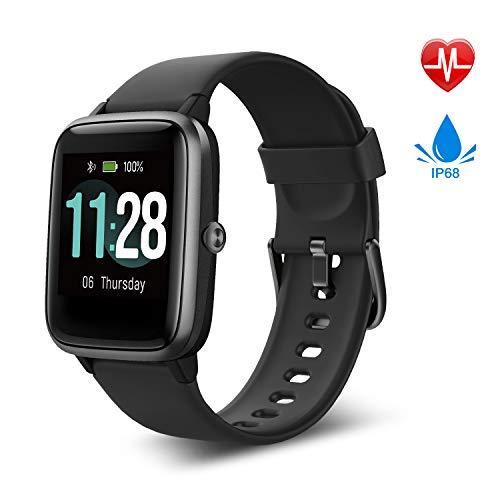 Fitpolo Smartwatch,Fitness Armband Voll Touchscreen 5ATM Wasserdicht,Smartwatch für Samsung iPhone, Aktivitätstracker mit
