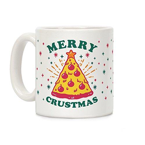 LookHUMAN Merry Crustmas White 11 Ounce Ceramic Coffee Mug