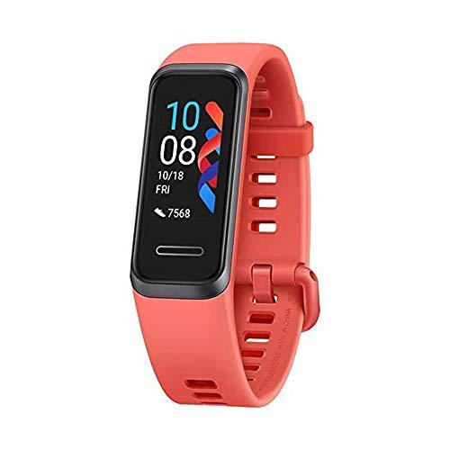 gooplayer para Huawei Band 4 Smart Band 4 Smart Watch frecuencia cardíaca Monitor de Salud Nuevas Caras de Reloj Smartwatch La versión de China Solo admite Chino e inglés(Naranja)