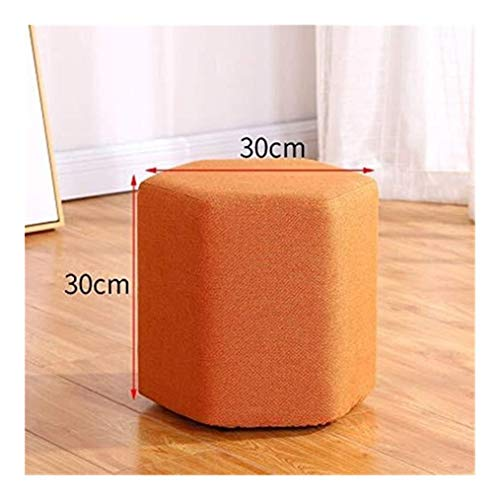 CHU N Tabla de heces, Banco de Tela de Moda Sofa Lazy Adulto Zapatos Square Sala Principal del Cafe (30x30cm) (Size : B)