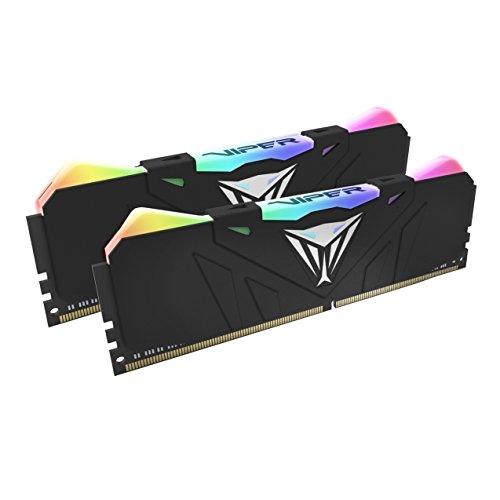 DRAM Patriot Memory Viper RGB DDR4 3200 16GB (2x8GB) C16 Kit id Memoria Gaming Illuminato RGB LED - Nero