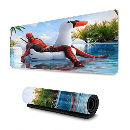 Superhero Dead_Pool Gaming Mouse Pad Large Custom Mousepad Pads for Laptop Computer,12x31.5 Inch Desk Cover Computers Keyboard Stitched Edges Office Ideal Mouse Mat