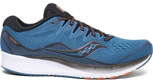 Saucony Ride ISO 2 Men's Running Shoes, Black/Blue, 10