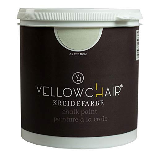Kreidefarbe yellowchair 1 Liter ÖKO für Wände und Möbel Shabby Chic Vintage Look (No. 23 altweiss/kieselgrau)