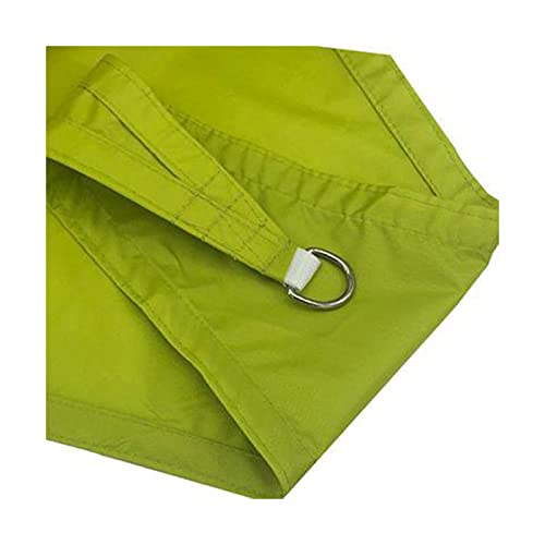 FHJL Sombra de Sombra, triángulo de Corte Derecho Sombra de Sombra al Aire Libre Oxford Paño Impermeable Sombra Sora Anti-UV Sombrilla Doble Yellow-Green-3×4×5m