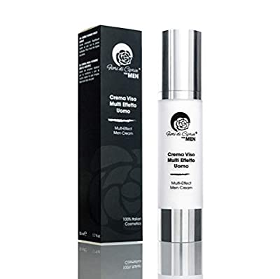 Anti-Wrinkle Cream For Men - Hyaluronic Acid And The Innovative Extracts Of Stem Cells Prevent Loss Of Skin Firmness And Keep It Supple And Toned - Made In Italy - 50 Ml