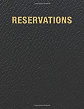 Reservations: Reservation Book For Restaurant | 2019 365 Day Guest Booking Diary | Hostess Table Log Journal | Black Faux Leather