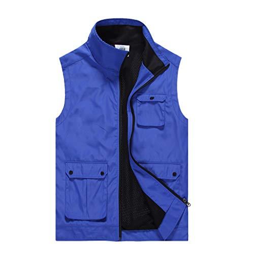 JSY Arbeitskleidung mit mehreren Taschen und Werkzeugweste, Polyester, D, M