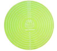 ベーキングマット、ベーキングマット、シリコンマット、ニーディングマット、ベーキングツール、滑り止めベーキングマット、テーブルマット。キッチンで焼くときに使用し、プレースマットとしても使用できます。色:青、緑、ピンク。サイズ:30cm (Color : Green, Size : 30cm in diameter)