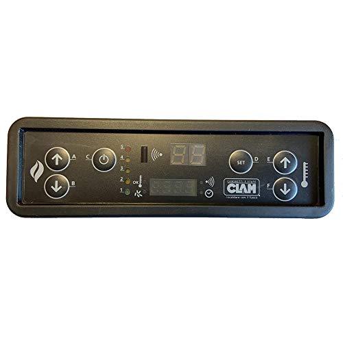 Easyricambi Scheda Display LED Tastiera PD047_B01 MICRONOVA D047 per Stufa a Pellet (per Clam Vedere i Modelli in Descrizione).