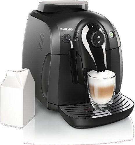 Philips Super-Automatic Espresso Machine with Classic Milk Frother, Series 2000, Black, HD8651/14