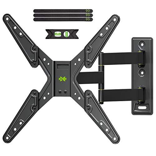 USX-Mount Langer Arm TV Wandhalterung für 26-55-Zoll LED, Oled, 4K & Flach Fernseher, TV Eckhalterung mit max.Vesa 400 * 400mm bis zu 40Kg, TV Halterung Schwenkbar Neigbar Langer Arm