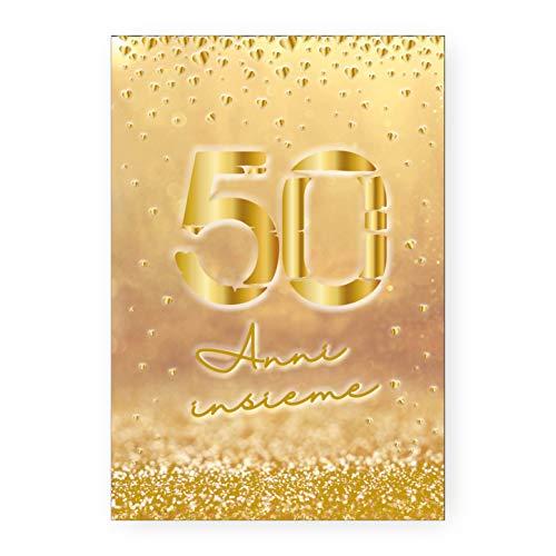 Biglietto Auguri 50° Anniversario Nozze Oro