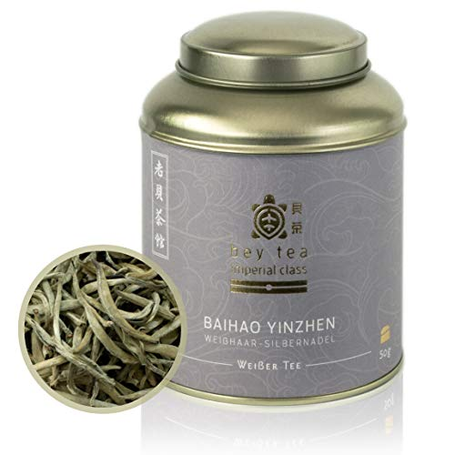 beytea Baihao Yinzhen (Imperial Silver Needle), handverlesener Weißer Tee aus Fujian, China (50g)