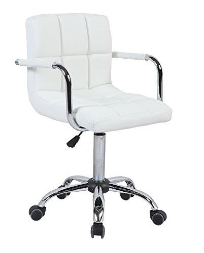 HNNHOME – Silla de oficina giratoria fabricada en piel, silla de escritorio/ordenador