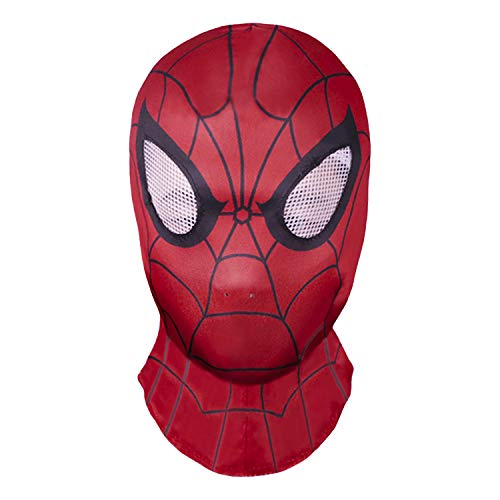 Superhero Premium mask, Cosplay Costume Party Role-Playing Props Elastic Cloth Fabric Material Red