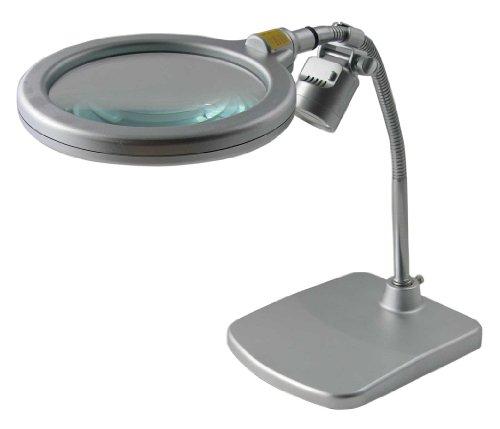 TSK スタンドルーペ 倍率1.6倍 レンズ径150mm LEDライト付き フレキシブルアーム 日本製 1500K-LED