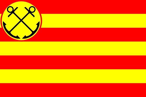 magFlags Flagge: XL Den Helder | Gemeente nl Den Helder | Querformat Fahne | 2.16m² | 120x180cm » Fahne 100% Made in Germany