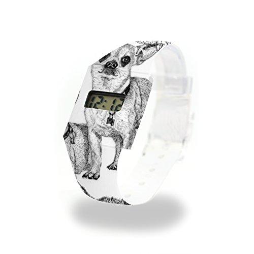 DOGGY STYLE - Pappwatch - Paperlike Watch - Digitale Armbanduhr im trendigen Design - aus absolut reissfestem und wasserabweisenden Tyvek® - Made in Germany, absolut reißfest und wasserabweisend